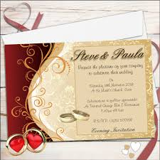 gold wedding invitations 10 personalised gold wedding invitations day evening n33