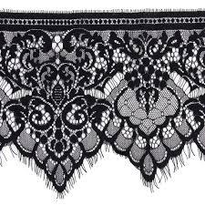 black lace trim new hot sale 3 yard 19cm wide black eyelash lace trim diy high