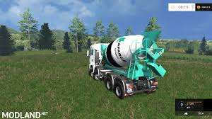 man tga 8x8 concrete mixer mod for farming simulator 2015 15
