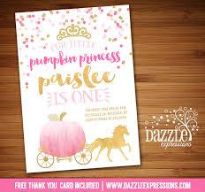 printable thank you cards princess printable watercolor and gold pumpkin princess birthday invitation