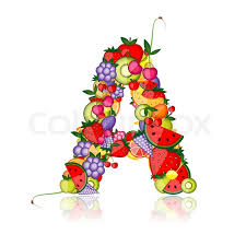 fruit letter for your design see others in my gallery stock