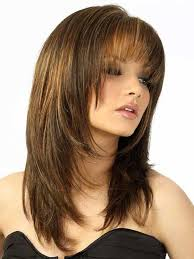 google layer hair styles layered cut with bangs hairstyles for round faces bangs