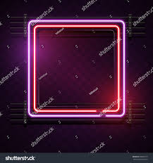square purple red neon light stock vector 668693515 shutterstock