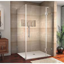 40 Inch Shower Door Aston Avalux 40 In X 36 In X 72 In Completely Frameless Shower