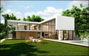 architecture exterior impressive l shape small modern house