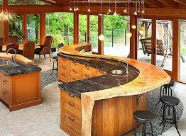 patio kitchen design patio wood pass through breakfast bar