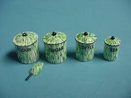 enamel kitchen canisters green enamel kitchen canister set 14 75 kent s mini treasures