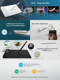 amazon com xp pen g430 osu tablet ultrathin graphic tablet 4 x 3
