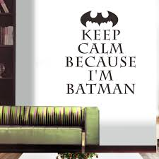 online get cheap batman vinyl stickers aliexpress com alibaba group keep calm i am batman wall stickers kids bedroom decoration zooyoo vinyl adesivo de paredes