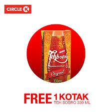 Teh Kotak Sosro 330ml circle k free 1 kotak teh sosro