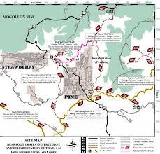 Arizona Highway Map by Arizona Mountain Biking Destinations U0026 Cabin Rentals Cabins On