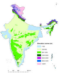 Global Time Zone Map Elevation Zone Map Of India Figure 3 Of 10