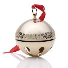 wallace gold sleigh bell ornament 2017 wallace ornament