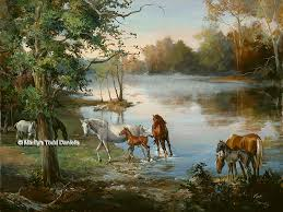 equine art and paintings of horses wood art