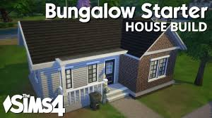the sims 4 house building bungalow starter youtube