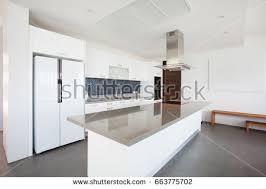 Kitchen Area Design Luxury Interior Design Pool Villa Kitchen Stock Photo 663775702