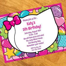 rainbow kitty personalized invitations at dollar carousel