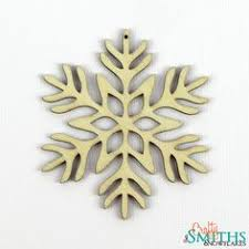 breast cancer snowflake tree ornament wooden things