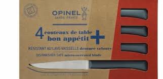 bon couteau de cuisine de 4 couteaux de table opinel anthracite bon appetit