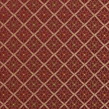 Drapery Fabrics Diamond Red Gold And Green Damask Upholstery And Drapery Fabric