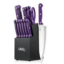 essential kitchen knives amazon com knife sets home u0026 kitchen knife block sets steak