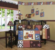 Cot Bedding Sets For Boys Geenny Western Horse Cowboy 13pcs Crib Bedding Set