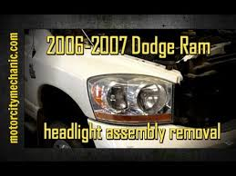 2004 dodge ram 1500 headlight bulb 2006 2007 dodge ram right front headl assembly removal