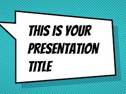 free presentation template comicbook style