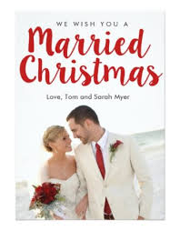 married christmas cards merrily married christmas photo card a christmas
