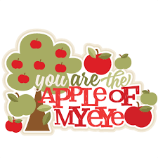 you are the apple of my eye title svg scrapbook cut file