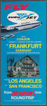 Condor Airlines Route Map by The Jumping Frog Rare Used And Out Of Print Books Magazines
