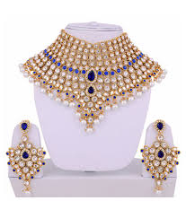 stone necklace set designs images Lucky jewellery designer multicolour cz stone with pearl alloy jpg