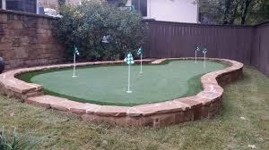 putting green in backyard diy a backyard and yard design for