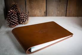 leather guest book leather guest book personalised handmade h co