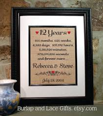 12th anniversary gift ideas 12th wedding anniversary symbol image collections symbol and sign