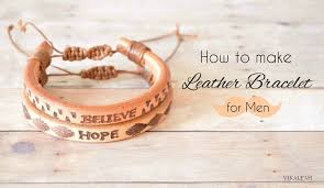 make men bracelet images How to make leather bracelet for men 6 steps with pictures jpg