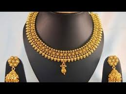 golden necklace designs images Light weight gold necklace gold necklace designs jpg