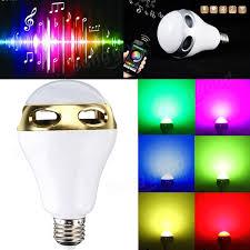 Led Light Bulb Speaker E27 Bluetooth App Control Music Playing Audio Speaker Led Lamp 90