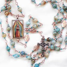 our of guadalupe rosary etsy rosary guild team our of guadalupe in copper