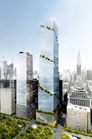 Urban Gardening New York Manhattan Is Getting An Office Tower Wrapped In Spiraling Sky