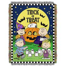 spooky gang woven tapestry throw 48inx60in