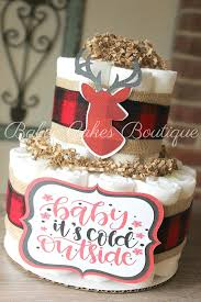 ready to ship 2 tier oh deer diaper cake baby it u0027s cold diaper