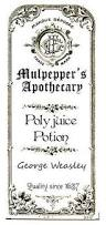 harry potter ornaments floo powder polyjuice potion with