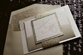 glitter wedding invitations real wedding kesia and marc chagne glitter wedding invitations