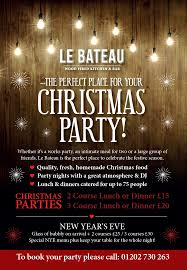 le bateau the perfect place for your christmas party in poole