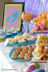 mermaid ariel birthday party ideas food crafts