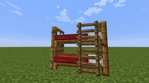 Minecraft How To Make A Bunk Bed Detail Bunk Bed Minecraft