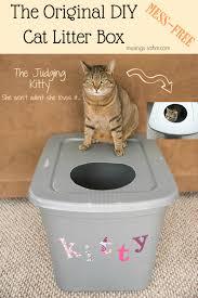 Decorative Cat Box The Original Diy Mess Free Cat Litter Box Living Well Mom