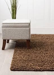 Shaggy Rugs For Living Room Amazon Com Brown Shag Rug 4 Feet By 6 Feet 4x6 Solid U0026 Thick