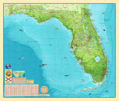 Driving Map Of Florida by Florida Physical Wall Map By Compart Maps